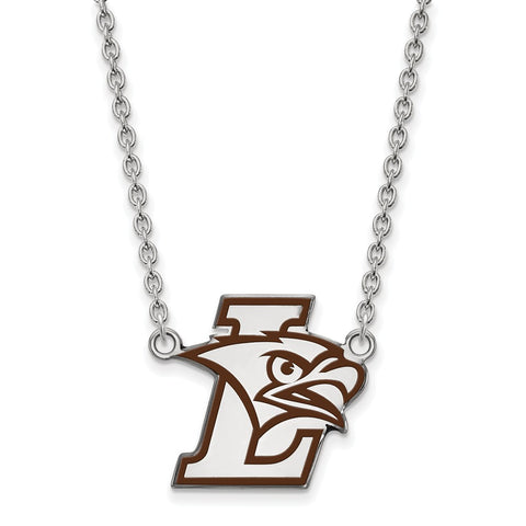 SS Lehigh University Large Enamel Pendant w/Necklace
