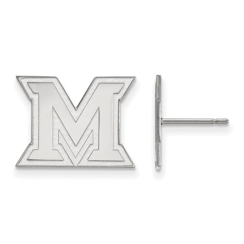 10kw LogoArt Miami University Small Post Earrings
