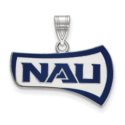Sterling Silver LogoArt Northern Arizona University Medium Enamel Pendant