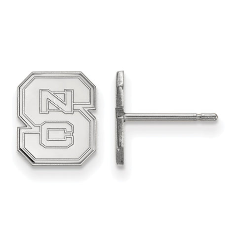 14kw LogoArt North Carolina State University XS Post Earrings