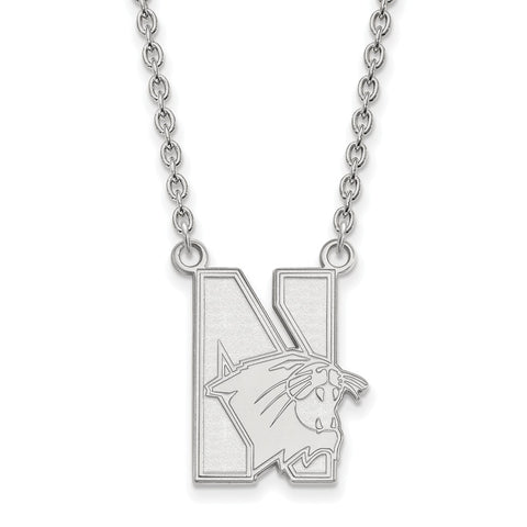 14kw LogoArt Northwestern University Large Pendant w/Necklace