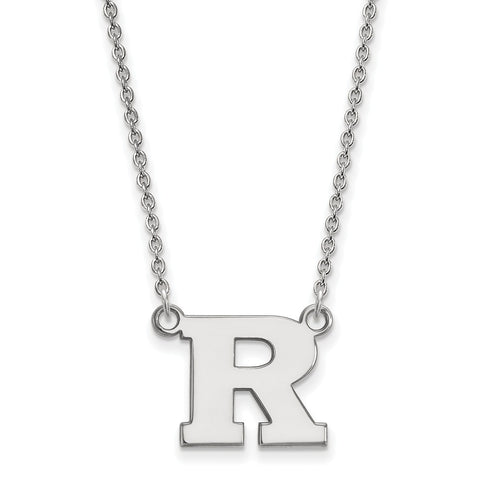 14kw LogoArt Rutgers Small Pendant w/Necklace