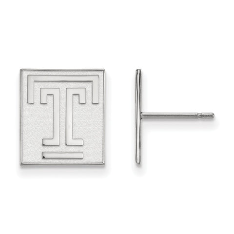 10kw LogoArt Temple University Small Post Earrings