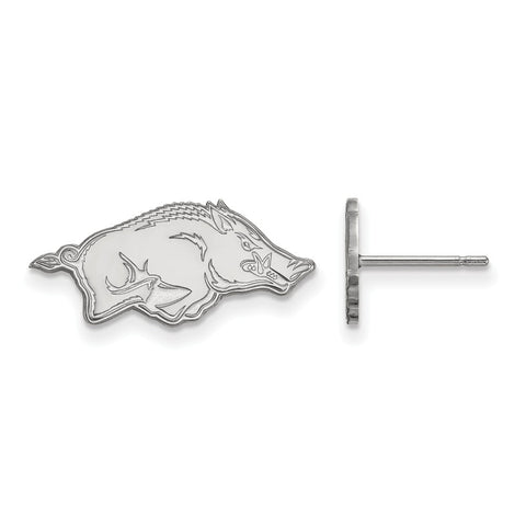 14kw LogoArt University of Arkansas Small Post Earrings