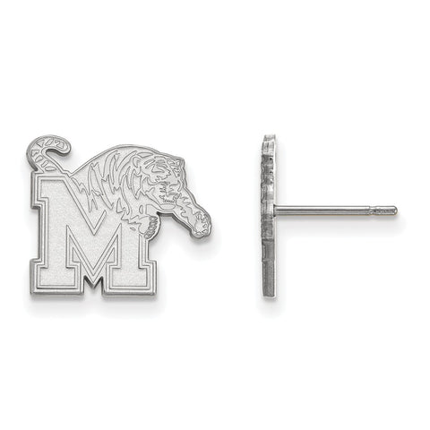 10kw LogoArt University of Memphis Small Post Earrings
