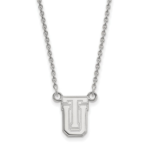 Sterling Silver LogoArt The University of Tulsa Small Pendant w/Necklace