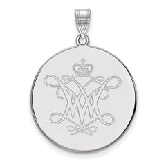 Sterling Silver LogoArt William And Mary XL Disc Pendant