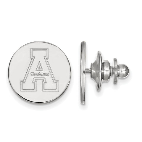 Sterling Silver LogoArt Appalachian State University Lapel Pin