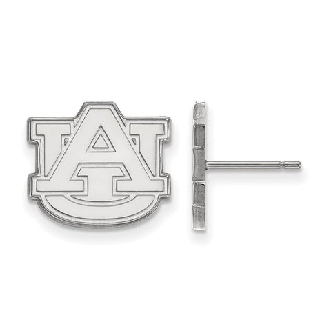 10k White Gold Logoart Auburn University Tigers Small Post Earrings