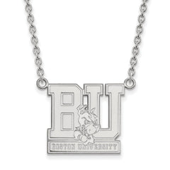 Sterling Silver LogoArt Boston University Large Pendant w/Necklace