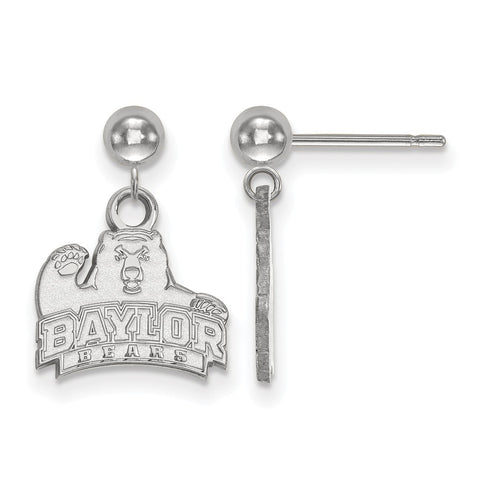 14kw LogoArt Baylor University Earrings Dangle Ball