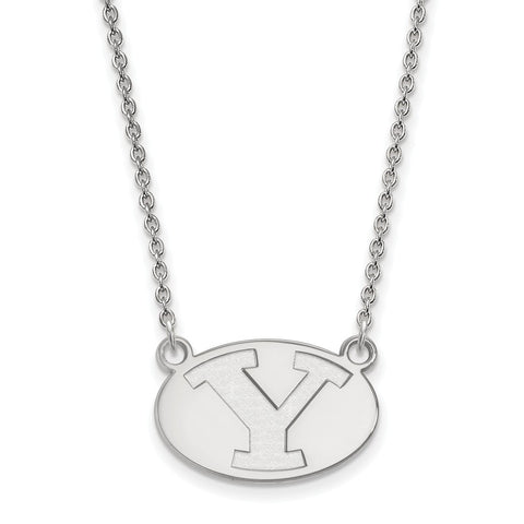 14kw LogoArt Brigham Young University Small Pendant w/Necklace