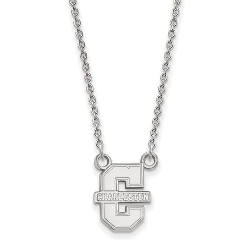 14kw LogoArt College of Charleston Small Pendant w/Necklace