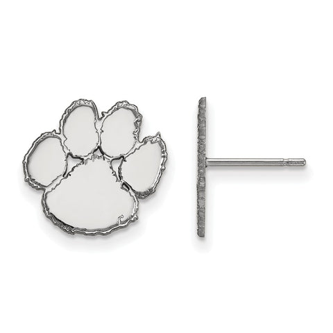 Sterling Silver LogoArt Clemson University Small Post Earrings