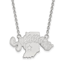 14kw LogoArt Indiana State University Large Pendant w/Necklace