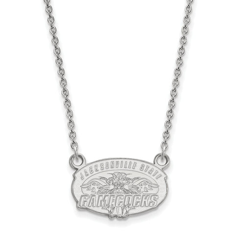 Sterling Silver LogoArt Jacksonville State U. Small Pendant w/Necklace