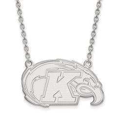 Sterling Silver LogoArt Kent State University Large Pendant w/Necklace