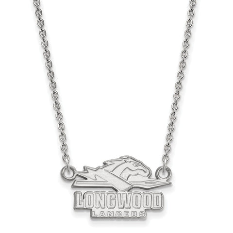 14kw LogoArt Longwood University Small Pendant w/Necklace