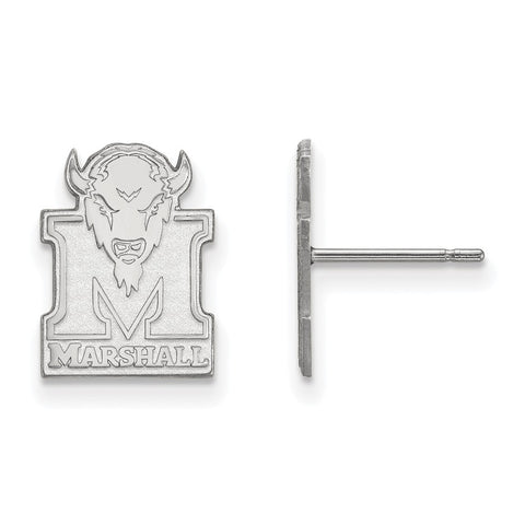 14kw LogoArt Marshall University Small Post Earrings
