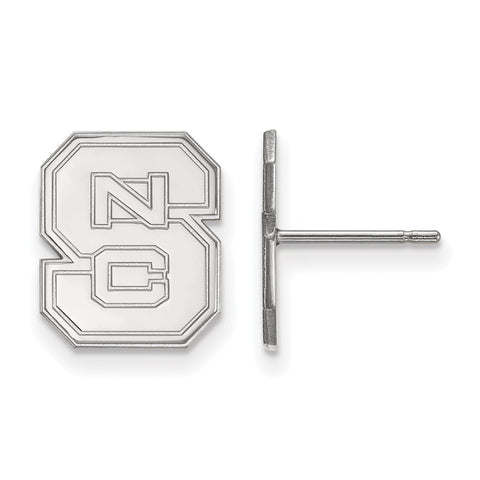 10kw LogoArt North Carolina State University Small Post Earrings