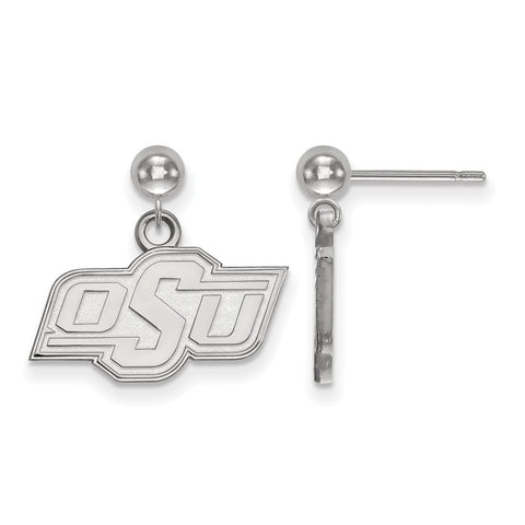 14kw LogoArt Oklahoma State University Earrings Dangle Ball