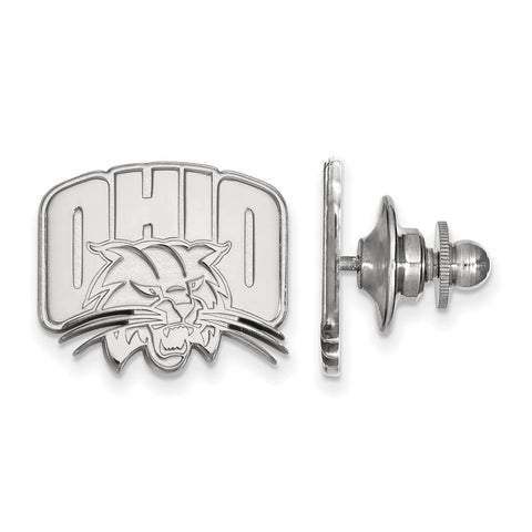 Sterling Silver LogoArt Ohio University Lapel Pin