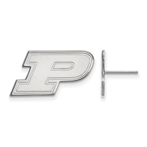 14kw LogoArt Purdue University Small Post Earrings