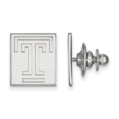 Sterling Silver LogoArt Temple University Lapel Pin