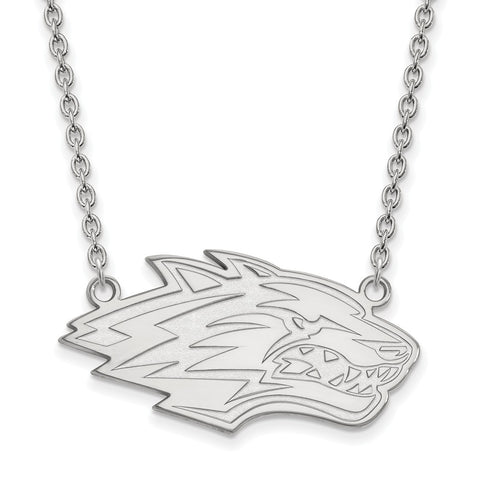 Sterling Silver LogoArt University of New Mexico Large Pendant w/Necklace