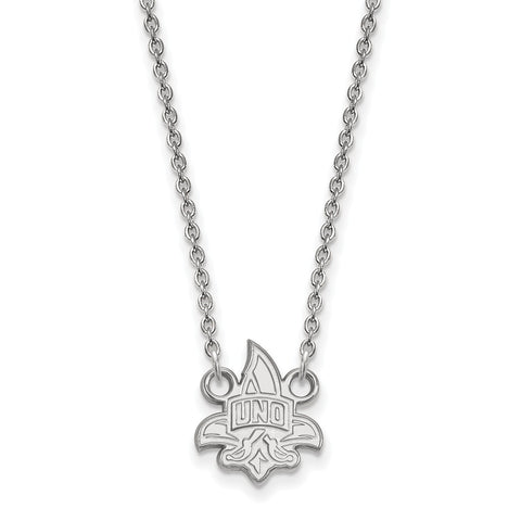 14kw LogoArt University of New Orleans Small Pendant w/Necklace