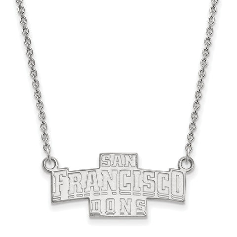 14kw LogoArt University of San Francisco Small Pendant w/Necklace