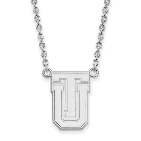 Sterling Silver LogoArt The University of Tulsa Large Pendant w/Necklace