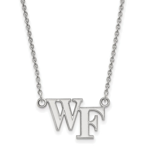 10kw LogoArt Wake Forest University Small Pendant w/Necklace