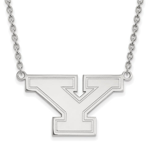 14k White Gold Logoart Youngstown State University Penguins Large Pendant W/Necklace