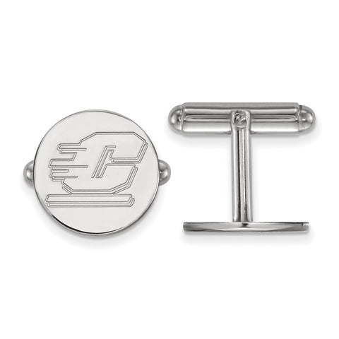 Sterling Silver LogoArt Central Michigan University Cuff Link
