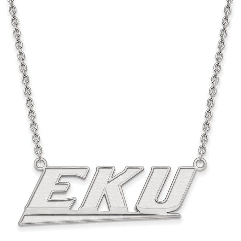 10kw LogoArt Eastern Kentucky University Large Pendant w/Necklace