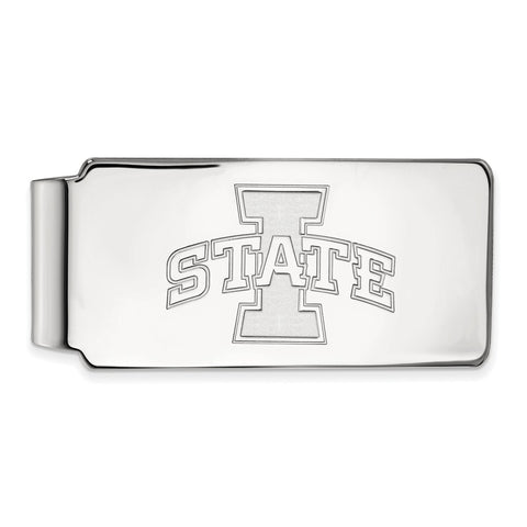 Sterling Silver LogoArt Iowa State University Money Clip