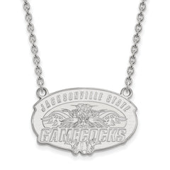 14kw LogoArt Jacksonville State University Large Pendant w/Necklace