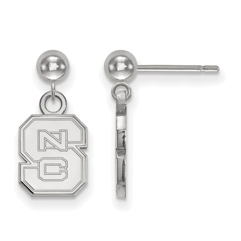 14kw LogoArt North Carolina State University Earrings Dangle Ball