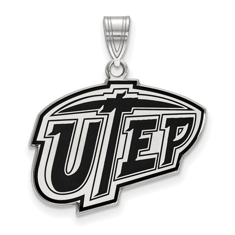 Sterling Silver LogoArt The University of Texas at El Paso Large Enamel Pen
