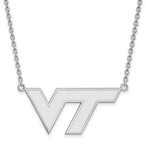 10kw LogoArt Virginia Tech Large Pendant w/Necklace