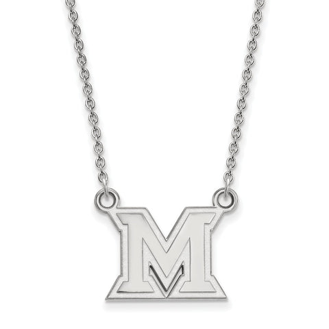 14kw LogoArt Miami University Small Pendant w/Necklace