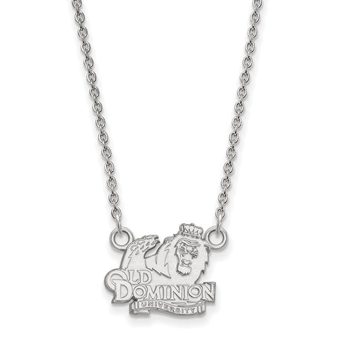 14kw LogoArt Old Dominion University Small Pendant w/Necklace