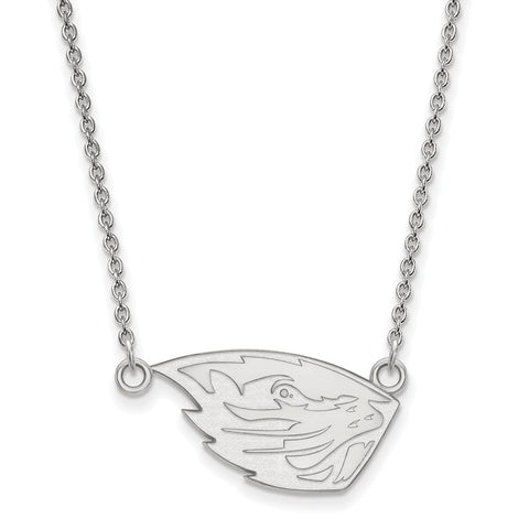14kw Oregon State University Small Pendant w/Necklace