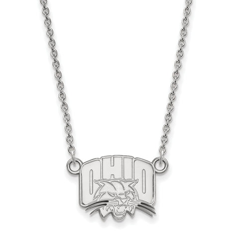 14kw LogoArt Ohio University Small Pendant w/Necklace