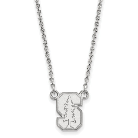 14kw LogoArt Stanford University Small Pendant w/Necklace