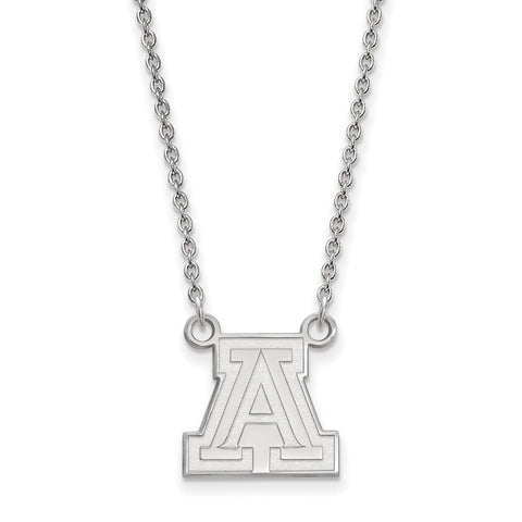 Sterling Silver LogoArt University of Arizona Small Pendant w/Necklace