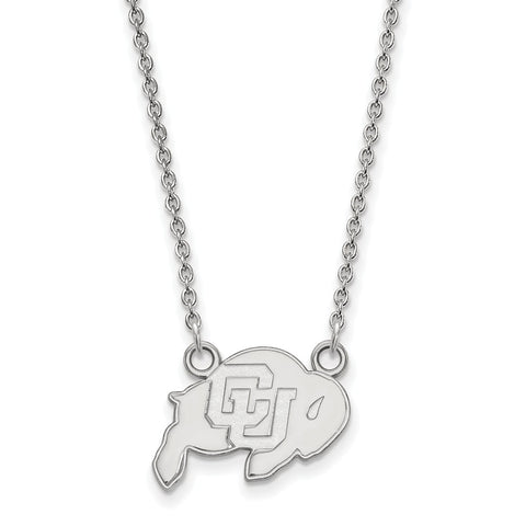 10kw LogoArt University of Colorado Small Pendant w/Necklace