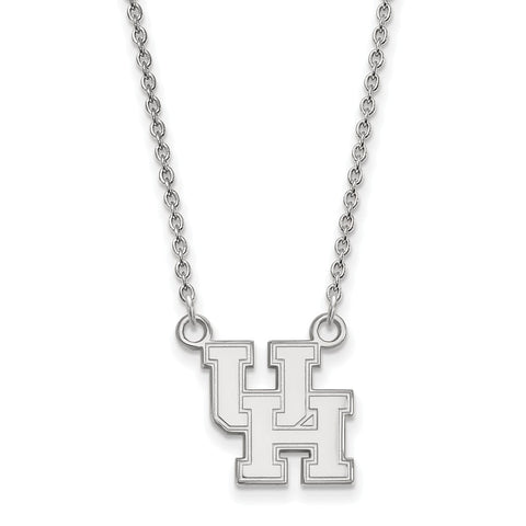 14kw LogoArt University of Houston Small Pendant w/Necklace