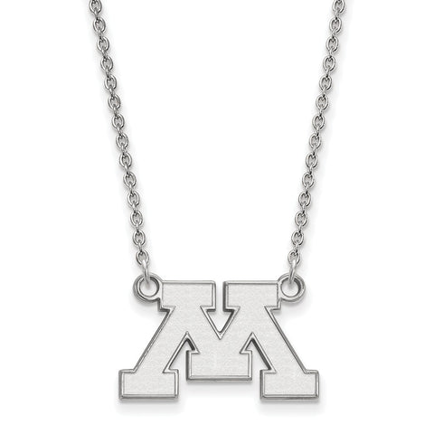 10kw LogoArt University of Minnesota Small Pendant w/Necklace